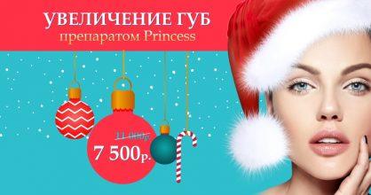 Увеличение губ препаратом Princess всего 7 500 рублей вместо 11 000 до конца декабря!